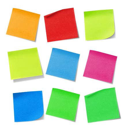 papel de notas: Nota adhesiva Foto de archivo