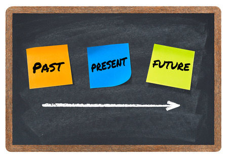 Past, present, future, time concept