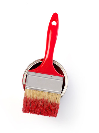 home addition: Paintbrush and paint can