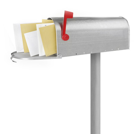 u.s. flag: Mailbox