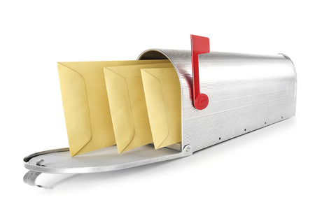 the u s  flag: Mailbox with envelopes