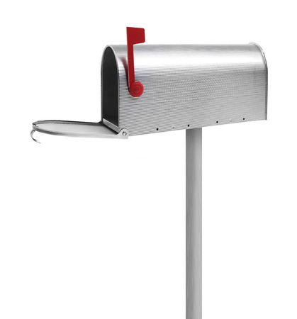 u s  flag: Empty mailbox Stock Photo