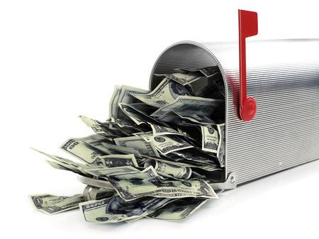 돈이 가득한 사서함 스톡 콘텐츠 - 39718472