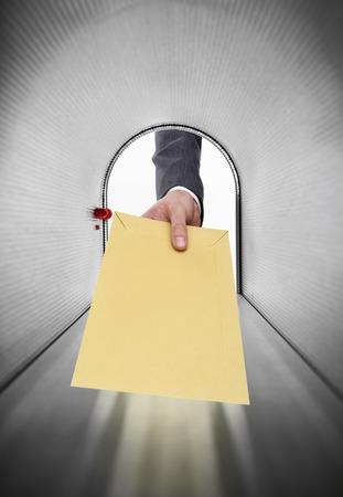 envelope: Mailman with envelope