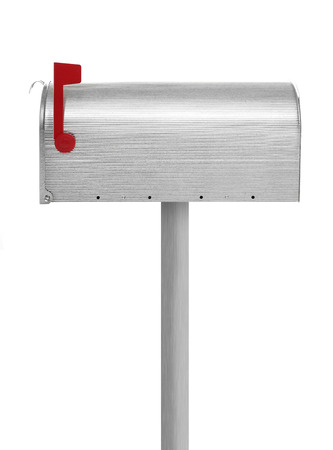 u s  flag: Closed mailbox Stock Photo
