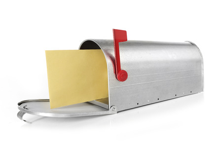 u s  flag: Mailbox with envelope Stock Photo