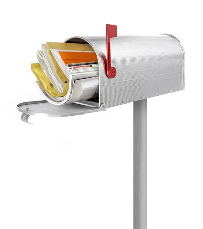 the u s  flag: Full mailbox Stock Photo