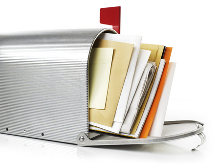 the u s  flag: Mailbox with correspondence
