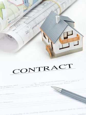 buying a house: Buyers Contract - Stock Image