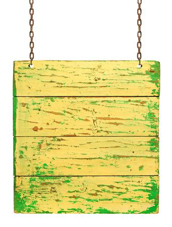 plaque: Wood plaque on white background Stock Photo