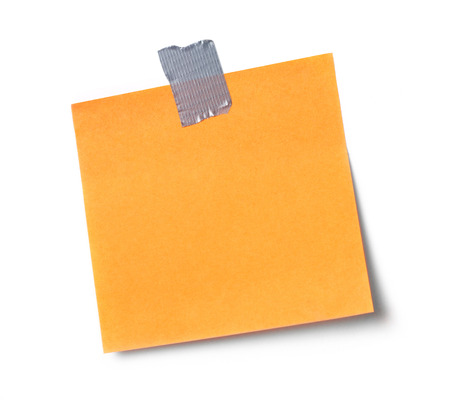 adhesive  note: Adhesive note on white background Stock Photo