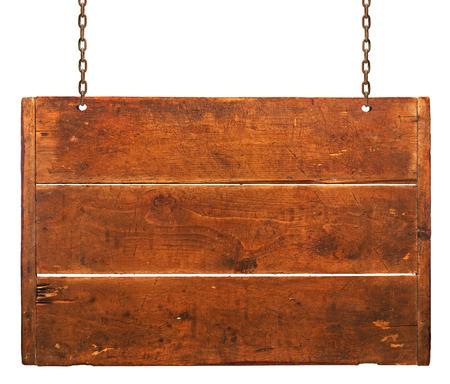 blacksmith shop: Wood plaque on white background Stock Photo