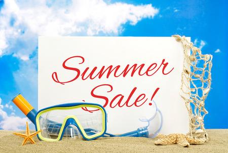Sommer-Verkauf-Message Board Lizenzfreie Bilder
