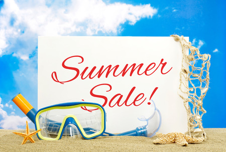Summer sale babillard Banque d'images - 40283250