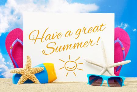 Habe einen großartigen Sommer Standard-Bild - 40283421