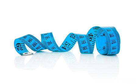 파란색 테이프 측정 스톡 콘텐츠
