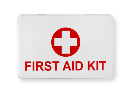 emergency kit: First aid Stock Photo