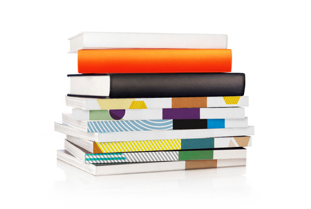 book isolated: Stack of books
