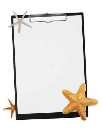 star fish: Clipboard with star fish