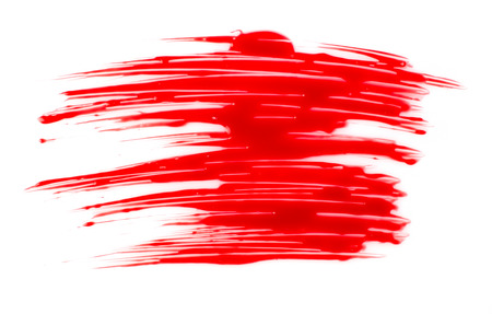 spilled paint: Red paint stain