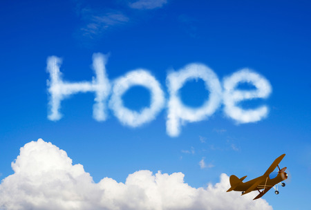 anticipation: Hope message in the sky