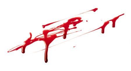 cut: Blood spatter Stock Photo