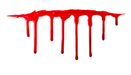 animal blood: Blood pouring