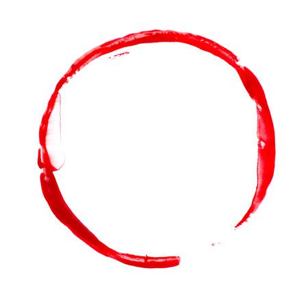 peinture rouge: Peinture rouge tache