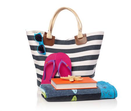 leisure equipment: Beach bag and leisure items
