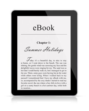 palmtop: eBook reader Stock Photo