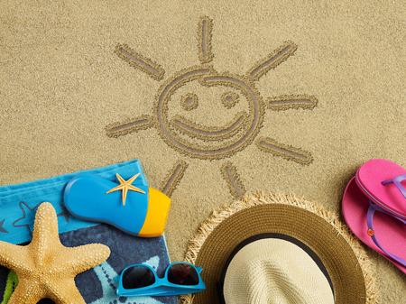 vacation destination: Sunny vacation Stock Photo