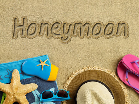 Honeymoon on the beach photo