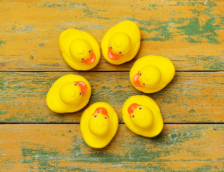 peeling rubber: Rubber ducks