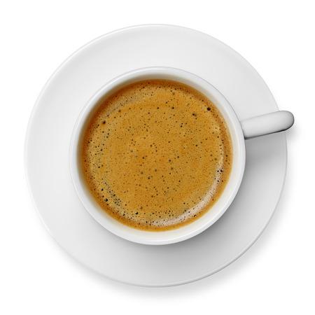 Kaffeetasse mit Untertasse Standard-Bild - 43205411
