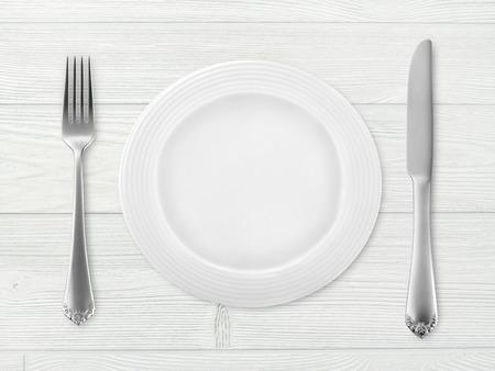 plato de comida: Tabla ajuste Foto de archivo