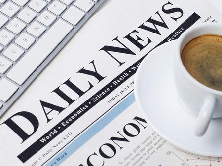 printed media: Daily news Stock Photo