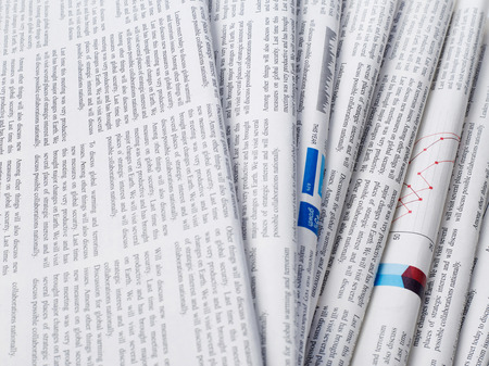 printout: Newspapers stack Stock Photo