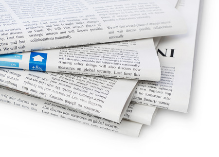 stacks: Newspapers stack Stock Photo
