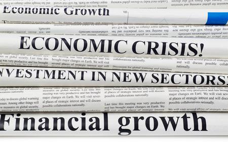 newspaper stack: Newspapers headlines