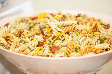 pasta salad: Pasta in a bowl