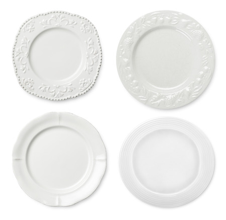 empty plate: Classic and modern plated Stock Photo