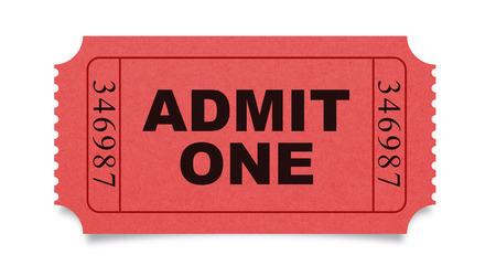 Zugeben, ein ticket  Standard-Bild - 43288460