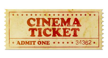 admit one: Cinema vintage ticket Stock Photo