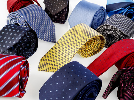 neck ties: Various neck ties isolated on white