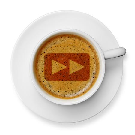 fast forward: Veloce simbolo avanti sul caff�