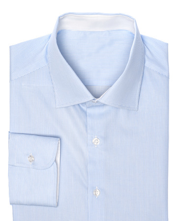 white shirt: Blue shirt Stock Photo