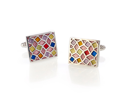 cuff links: Multi-colored cuff links Stock Photo