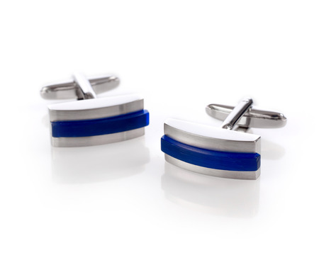 cuff links: Blue cuff links