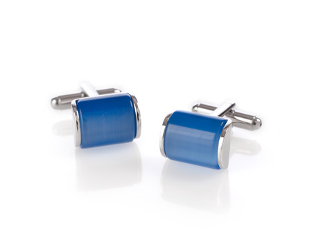 cuff: Blue cuff links