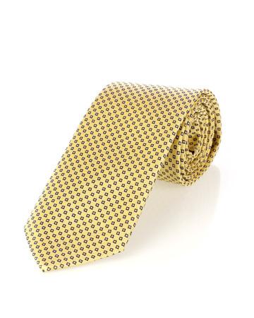 personal accessory: Yellow tie Stock Photo